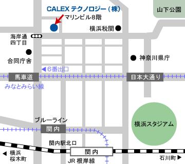 CALEXテクノロジー地図
